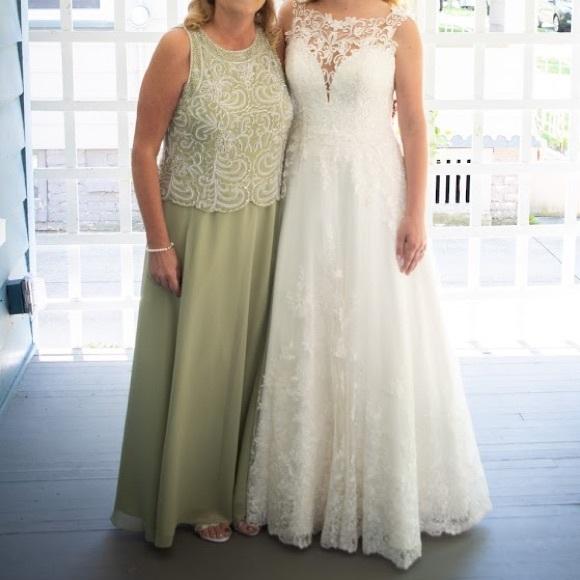 cac279f8750 J Kara Dresses   Skirts - Embellished Bodice A-Line Chiffon Dress   Scarf